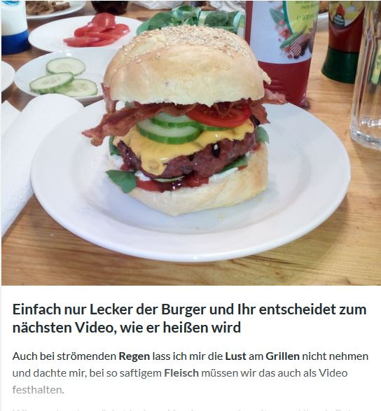 Ein Burger mit eurem Namen
